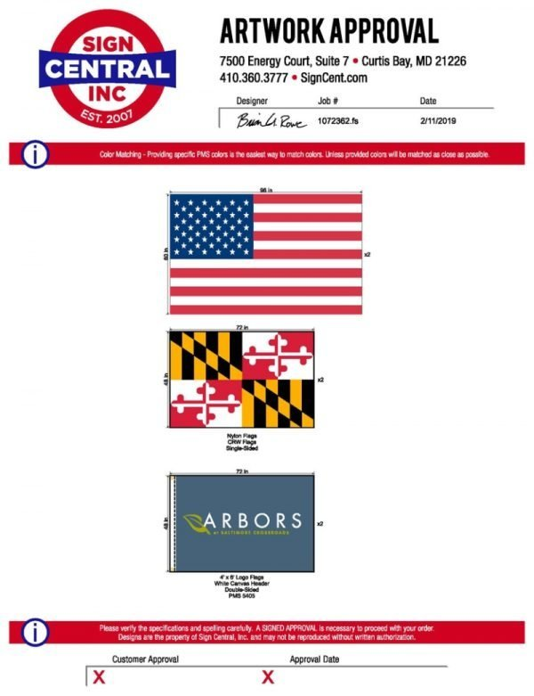Logo Flags by Sign Central, Inc.