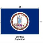 Virginia (VA) State Flag sold by Sign Central, Inc.