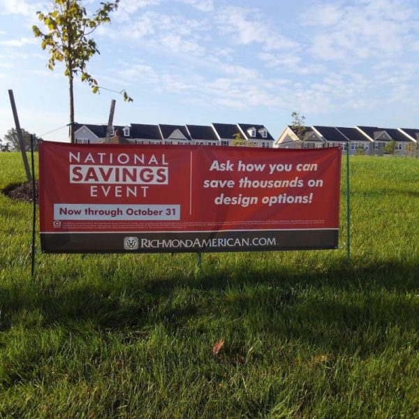 Banner on Small Post Setup by Sign Central Inc