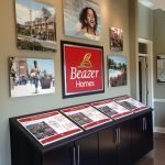 Beazer Homes Acrylic Indoor Sign Display and Framed Logo by Sign Central, Inc.