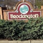 Brick Monument by Sign Central, Inc. at Brockington Home Owners Association
