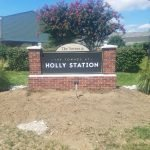 Brick Monument by Sign Central, Inc. at The Townes at Holly Station