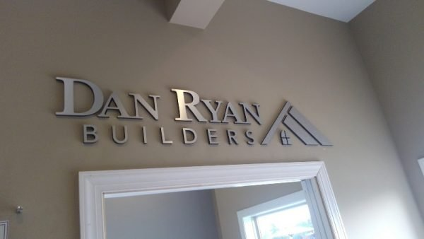 Brushed Silver Dimensional Logo by Sign Central, Inc.