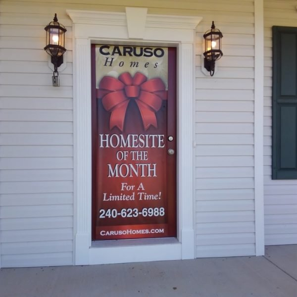 Caruso Homes Door Banner by Sign Central, Inc.