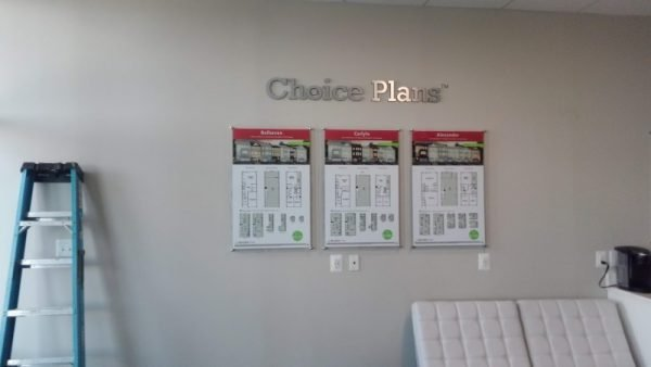 Custom Chrome Standoff Signs by Sign Central, Inc.