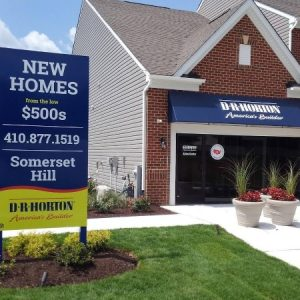 DR Horton Real Estate Company Sign and Awning by Sign Central, Inc.