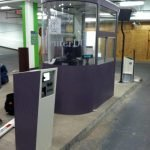Etched vinyl glass graphics by Sign Central,Inc.