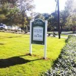 Exterior sign on posts by Sign Central, Inc.