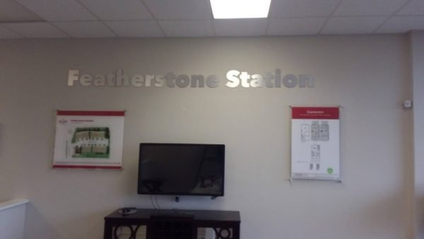 Featherstone Station logo and displays by Sign Central, Inc.