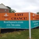 Medium Density Overlay Sign-MDO-size 4x8-2-Sided-V-Shape by Sign Central, Inc.