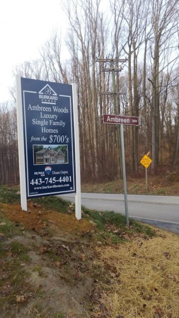 Medium Density Overlay Sign-MDO-size 4x8 by Sign Central, Inc.