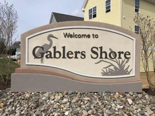 Monument by Sign Central, Inc. at Gablers Shore