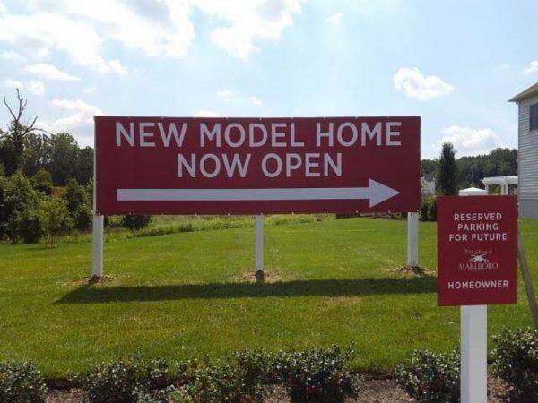 New Home Banner Post Setup byy Sign Central Inc