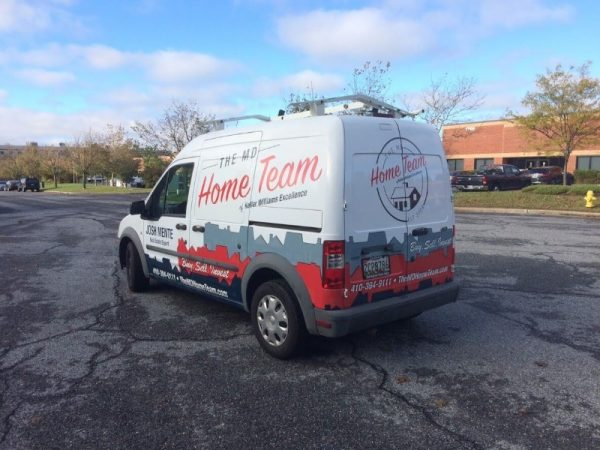 Partial Vinyl Vehicle Wrap for MD Home Team by Sign Central, Inc.