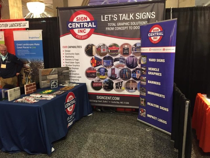 Promotional Pop-up Banner at Trade Show by Sign Central, Inc.