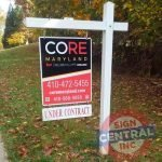 Realtor Sign on Post Setup by Sign Central, Inc.