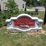 Stone Monument at Collins Woods by Sign Central, Inc.