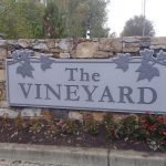 Stone monument by Sign Central, Inc. at The Vineyard