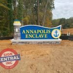 Stone monument by Sign Central, Inc. at Annapolis Enclave