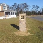 Stone monument mailbox by Sign Central, Inc.