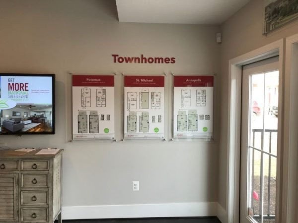 Townhome Floor Plan Display by Sign Central, Inc.