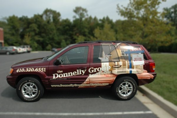 Vinyl SUV Vehicle Wrapping by Sign Central, Inc.