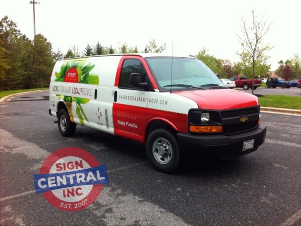 Vinyl Van Wrapping by Sign Central, Inc.