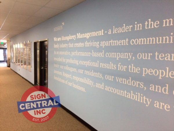 Vinyl Wall Lettering by Sign Central, Inc.