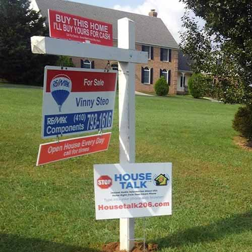 Sign Central, Inc. has products for all your real estate sign needs
