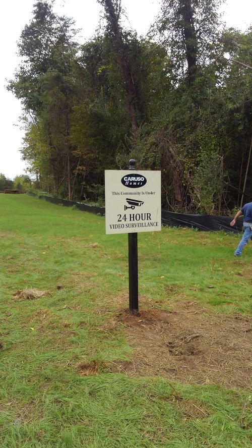 Custom Community Notice Sign by Sign Central, Inc.