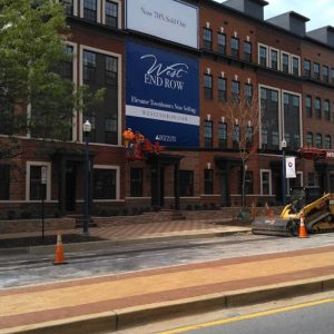 Large building banner in Annapolis MD by Sign Central, Inc.