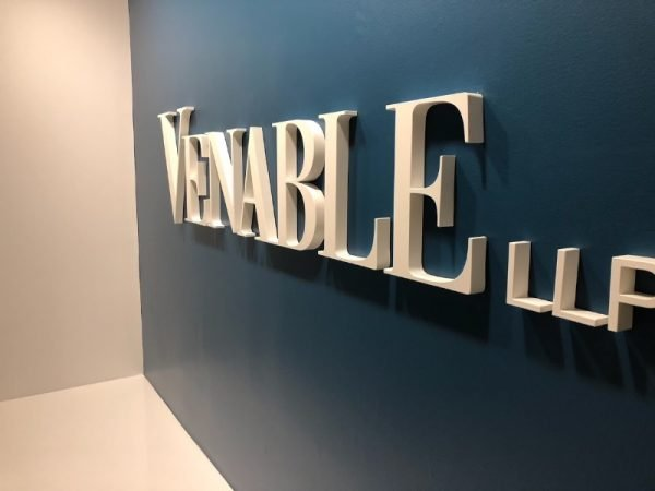 Interior Venable LLP Impact Business Logo by Sign Central, Inc.